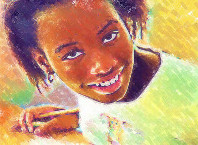 Photograph - Young Black Female Teen 5 by Ginger Wakem