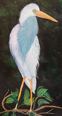 Painting - Young Blue Heron by Anne Sands