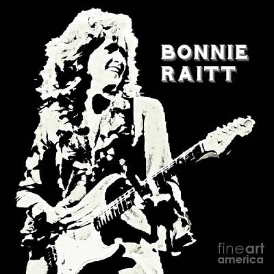 Fred Lynn Painting - Young Bonnie Raitt Poster by John Malone