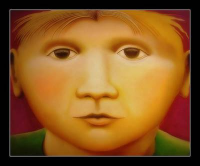 Painting - Young Boy - In Large Scale by Chris Boone