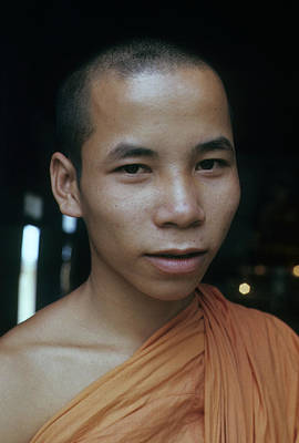 Photograph - Young Buddhist Monk #2 by Robert Holden