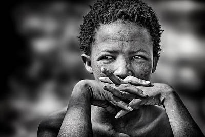 Women Photograph - Young Bushmen Woman by Piet Flour