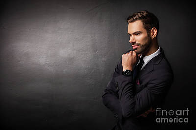 Photograph - Young Businessman Thinking About New Business Ideas by Michal Bednarek