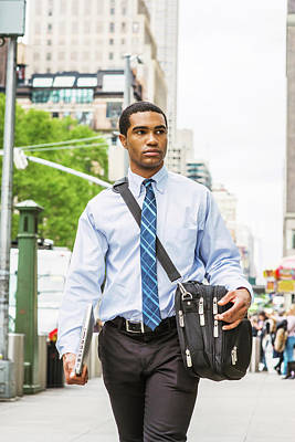 Photograph - Young Businessman Traveling In New York 1705143 by Alexander Image
