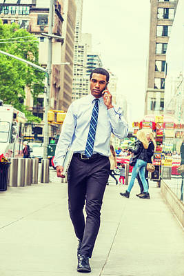 Photograph - Young Businessman Traveling In New York 1705144 by Alexander Image