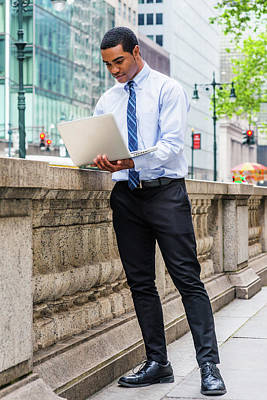 Photograph - Young Businessman Traveling, Working In New York 1705147 by Alexander Image