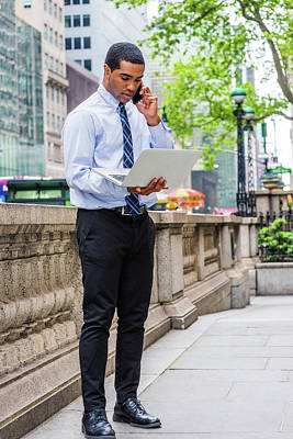 Photograph - Young Businessman Working Outside 1705148 by Alexander Image