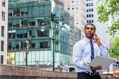Photograph - Young Businessman Working Outside 1705149 by Alexander Image