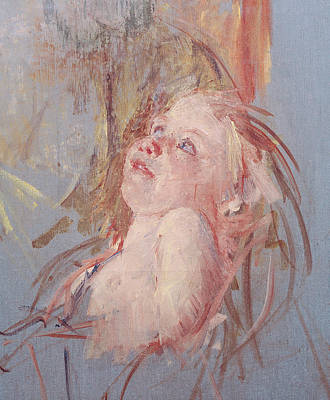 Caring Mother Painting - Young Child In Its Mother's Arms by Mary Stevenson Cassatt
