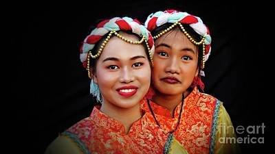 Photograph - Young Chinese Cultural Dancers by Ian Gledhill