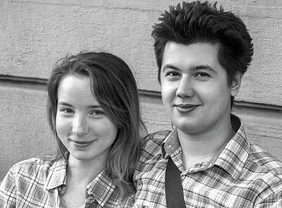 Photograph - Young Couple by Alex Galkin