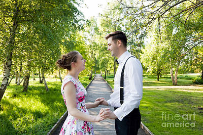 Couple Photograph - Young Couple In Love Together by Michal Bednarek