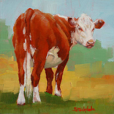 Painting - Young Cow by Margaret Stockdale