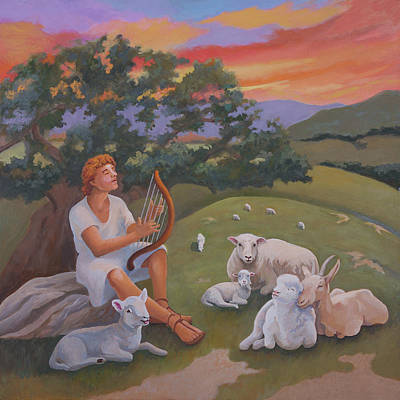 Painting - Young David As A Shepherd by Susan McNally