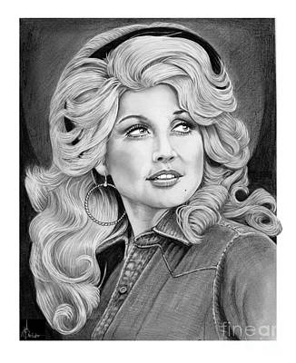 Famous People Drawing - Young Dolly Parton by Murphy Elliott