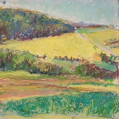 Pastel - Young Farm I by Theresa Peura