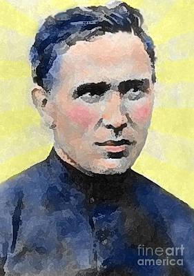 Young Father Damien Art Print by James Temple