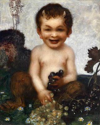 Faun Painting - Young Faun by Franz von Stuck