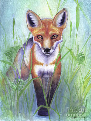 Red Fox Mixed Media - Young Fox by Natasha Terry