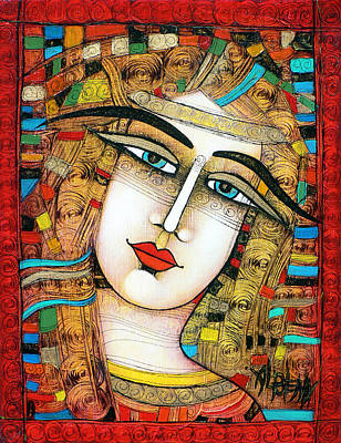 Young Girl Art Print by Albena Vatcheva