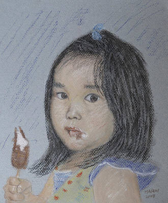 Pastel - Young Girl And Icecream by Masami Iida