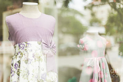 Photograph - Young Girl Dresses In Shop Display by Jacek Malipan
