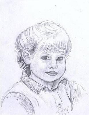 Drawing - Young Girl by Francine Heykoop