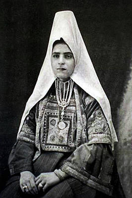 Photograph - Young Girl From Bethlehem by Munir Alawi