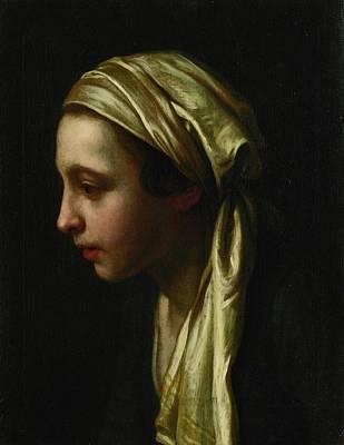 Girl Painting - Young Girl by Pietro Antonio Rotari