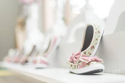 Photograph - Young Girl Shoes In Children Footwear Shop by Jacek Malipan