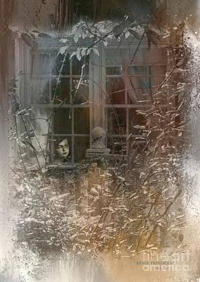 Photograph - Young Girl Sitting At Window by Renee Trenholm