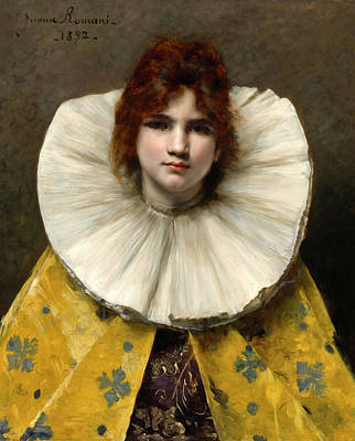Painting - Young Girl With A Ruffled Collar by Juana Romani