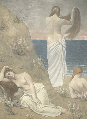 Painting - Young Girls By The Seaside by Pierre Puvis de Chavannes
