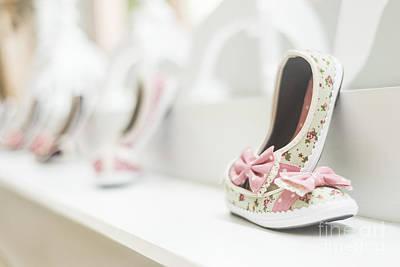 Photograph - Young Girl's Shoes In Children's Footwear Fashion Shop by Jacek Malipan