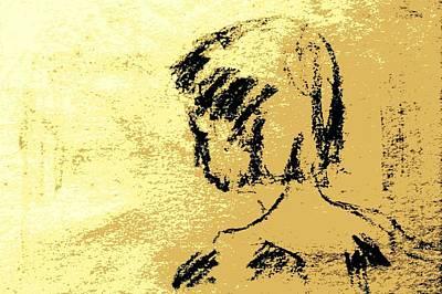 Young Girl's Shoulders Art Print