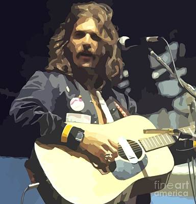 Musicians Royalty Free Images - Young Glenn Frey Abstract Painting Royalty-Free Image by John Malone