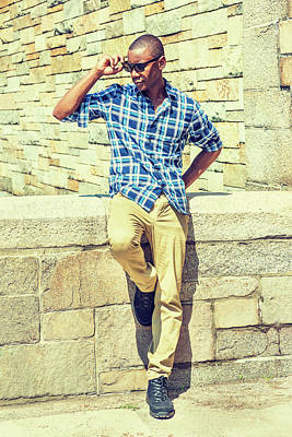Photograph - Young Handsome African American Man In New York 17061815 by Alexander Image