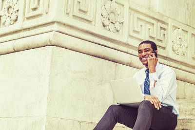 Photograph - Young Happy Black Businessman 17051411 by Alexander Image