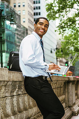 Photograph - Young Happy Black Businessman 1705146 by Alexander Image