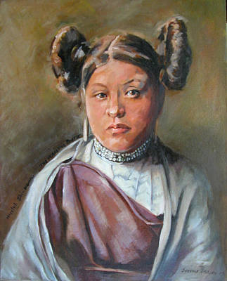 Painting - Young Hopi Girl by Synnove Pettersen