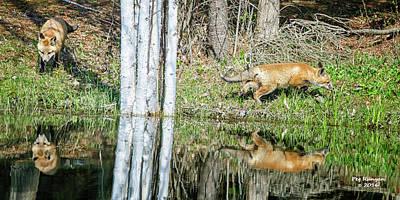 Photograph - Young Hunters by Peg Runyan