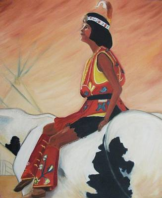 Young Indian Native Art Print by Suzanne  Marie Leclair