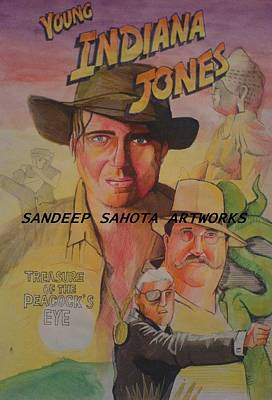 Alfred George Stevens Painting - Young Indiana Jones by Sandeep Kumar Sahota