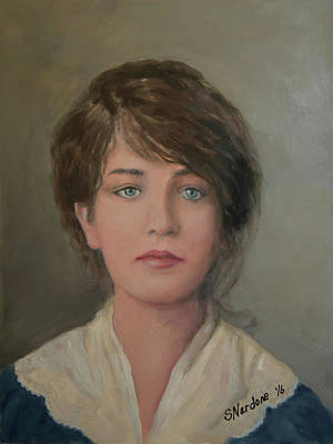 Ellis Island Painting - Young Irish Woman On Eliis Island by Sandra Nardone