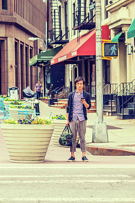 Photograph - Young Japanese Man Traveling In New York 15041420 by Alexander Image