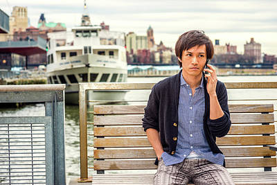 Photograph - Young Japanese Man Waiting For You In New York 15041415 by Alexander Image