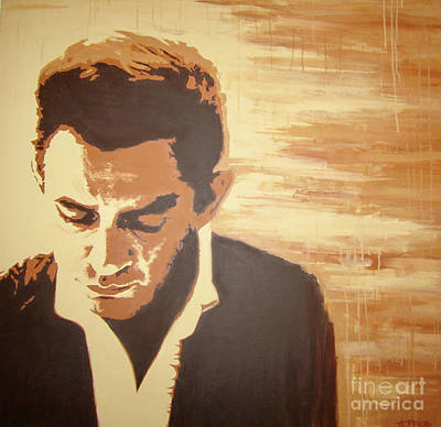 Painting - Young Johnny Cash by Ashley Lane