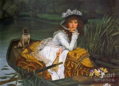 Young Lady Boating 1870 Art Print