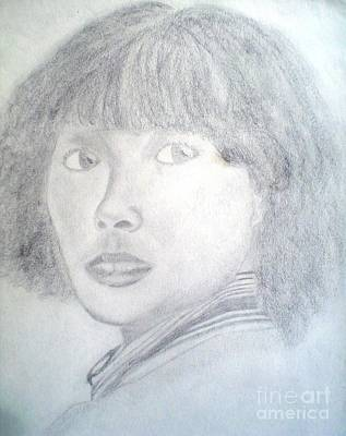 Drawing - Young Lady by Josie Weir