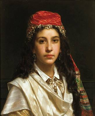Night Painting - Young Lady Wearing A Middle by Frederick
